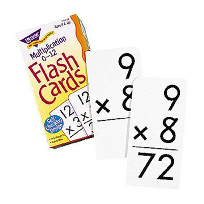 Trend Enterprises Flash Cards Multiplication 91/box