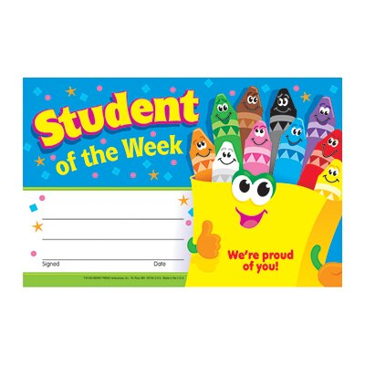 Trend Enterprises Awards Student Of The Week Crayons