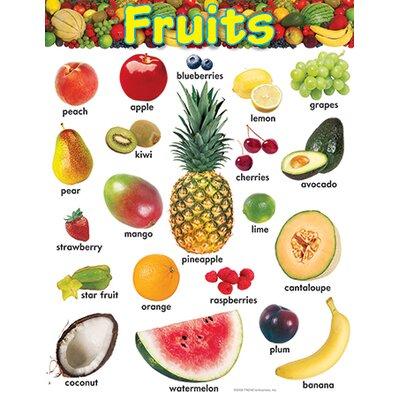 Trend Enterprises Learning Chart Fruits