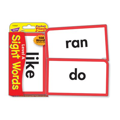 Trend Enterprises Pocket Flash Cards Sight Words A