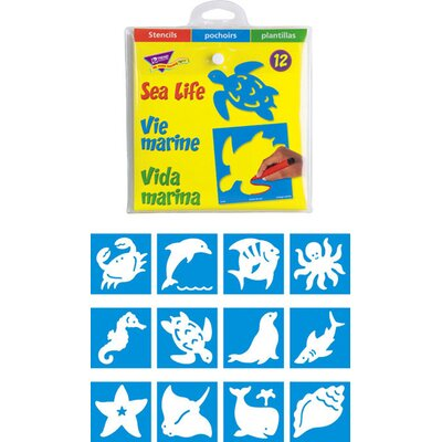 Trend Enterprises Stencils Sea Life