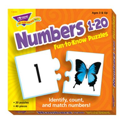 Trend Enterprises Puzzle Numbers 1 20