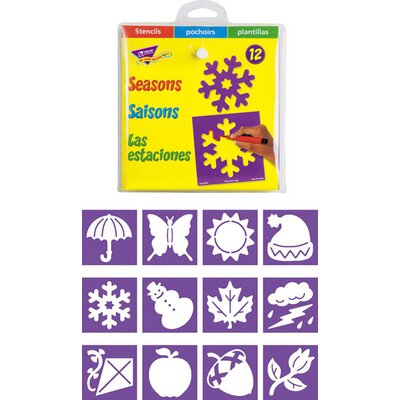 Trend Enterprises Stencils Seasons