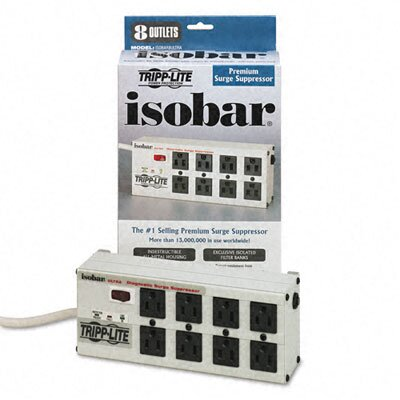 Tripp Lite Isobar Surge Suppressor 8 Outlet, 12Ft Cord, 3840 Joules