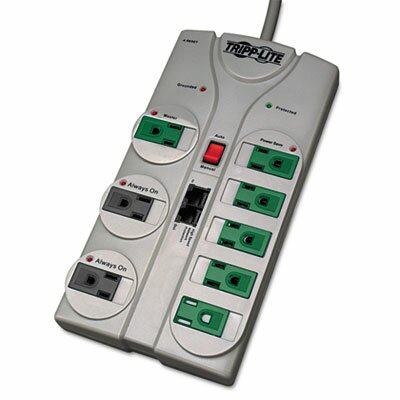 Tripp Lite Eco Surge Green, 8 Outlet, Tel Dsl, 8Ft Cord, 2160 Joules