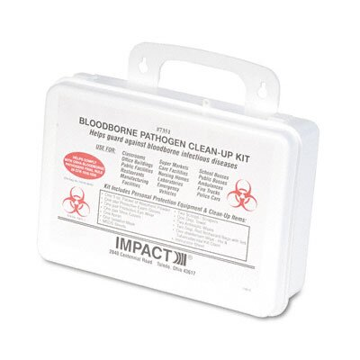 Unisan Bloodborne Pathogen Clean-Up Kit In Plastic Case