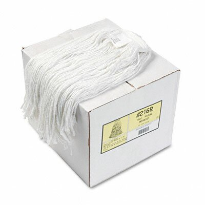 Unisan Premium Cut-End Wet Mop Heads, Rayon, 12/Carton