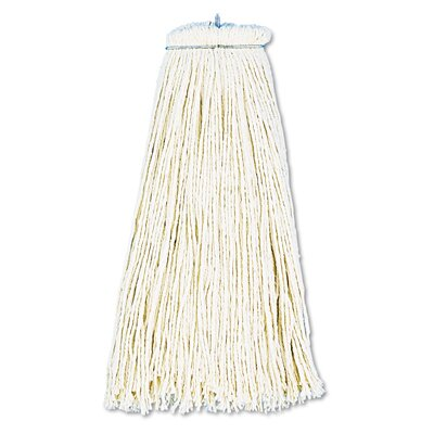 Unisan 12 oz Economical Lie Flat Mop Head in White