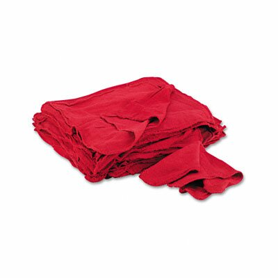 General Supply Red Shop Towels, 50/Pack
