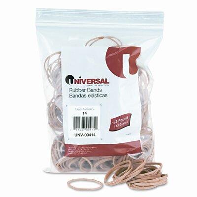 Universal® Rubber Bands, Size 14, 1/8 x 2, 590 per 1/4lb Box