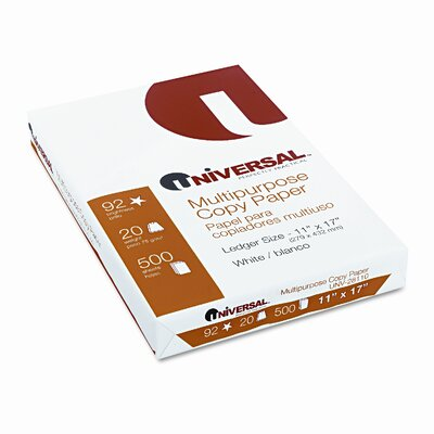 Universal® Copy Paper, 92 Brightness, 20Lb, 11 X 17, White, 2500 Sheets/Carton
