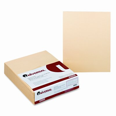 Universal® Glue Top Writing Pads, 50-Sheet Pads/Pack, 12/Pack
