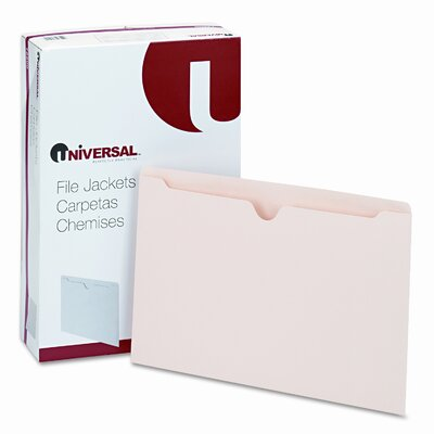 Universal® Economical File Jackets, 100/Box