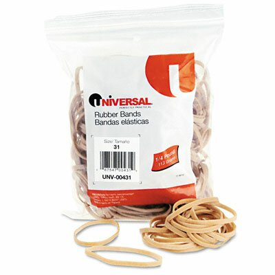 Universal® Rubber Bands, 245 Bands/0.25 lb Pack