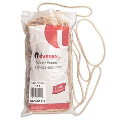 Universal® Rubber Bands, 210 Bands/1 lb Pack