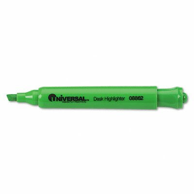 Universal® Desk Highlighter, Chisel Tip, 12/Pack