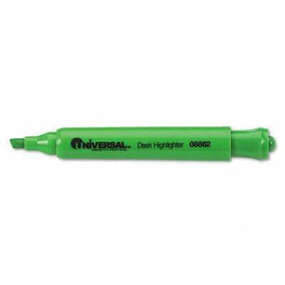 Universal® Desk Highlighter, Chisel Tip, 12/Pack