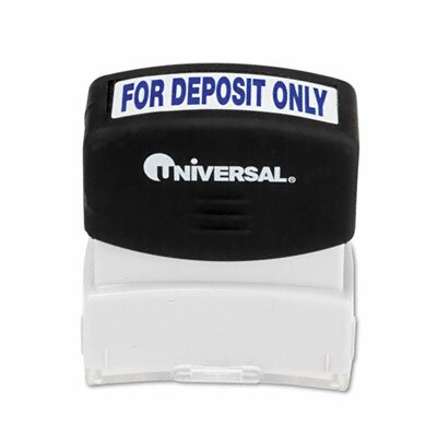 Universal® Message Stamp, for Deposit Only, Pre-Inked/Re-Inkable
