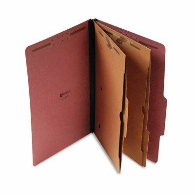 Universal® Pressboard Folder with 2 Dividers, 10/Box