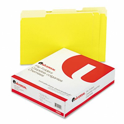Universal® Colored File Folders, 100/Box