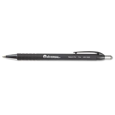 Universal® Comfort Grip Ballpoint Retractable Pen, 12/Pack