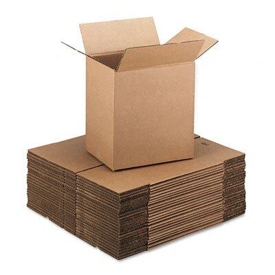 Universal® Corrugated Kraft Fixed-Depth Shipping Carton, 25/Bundle