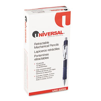 Universal® Comfort Grip Mechanical Pencil, 12/Pack