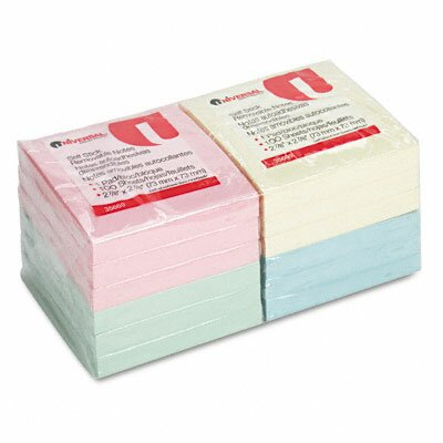 Universal® Standard Self-Stick Notes, 12 100-Sheet Pads/Pack