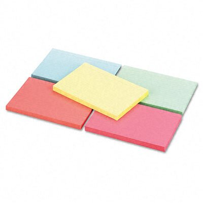 Universal® Index Cards, 4 x 6, Blue/Salmon/Green/Cherry/Canary, 250 per Pack