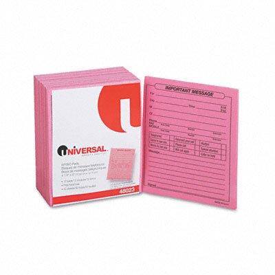 Universal® Important Message Pink Pads, 1/Dozen