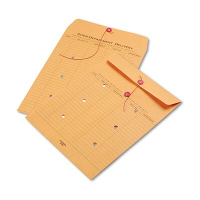 Universal® Light Brown Kraft String & Button Interoffice Envelope, 100/Box