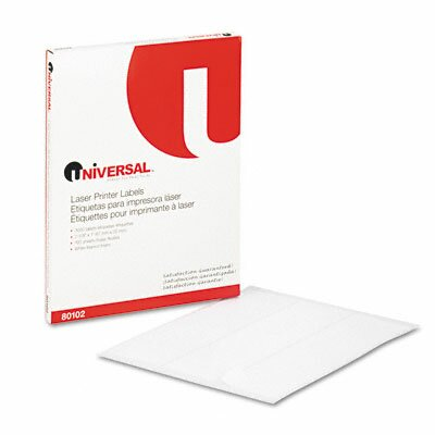 Universal® Laser Printer Permanent Labels, 3000/Box