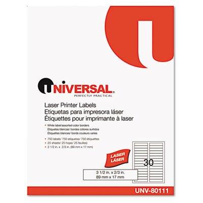Universal® Laser Printer File Folder Labels, 750/Pack