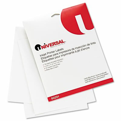 Universal® Inkjet Printer Labels, 750/Pack