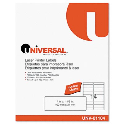 Universal® Laser Printer Permanent Labels, 700/Box