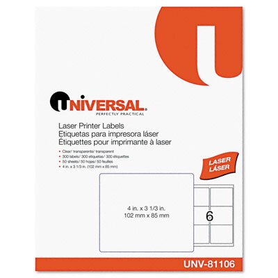 Universal® Laser Printer Permanent Labels, 300/Box