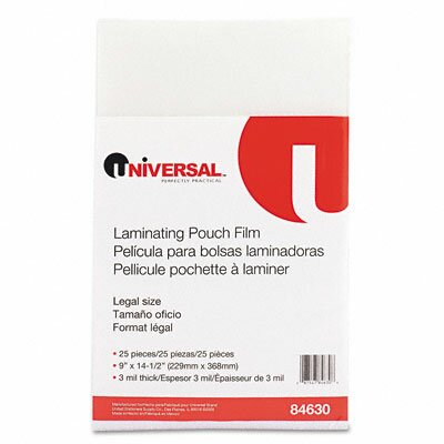 Universal® Clear Laminating Pouches, 25/Pack