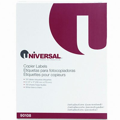 Universal® Shipping Labels for Copiers, 100/Box