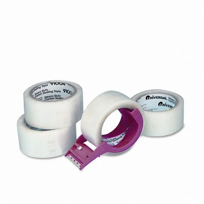 Universal® Carton Sealing Tape with Dispenser, 4/Box