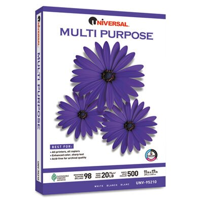 Universal® Multipurpose Paper, 2500 Sheets/Carton
