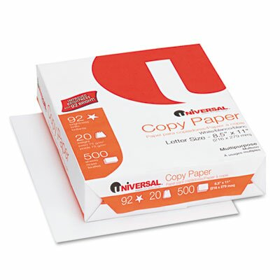 Universal® Copy Paper, 92 Brightness, 20 lb, 8-1/2 x 11, White, 200,000 Sheets