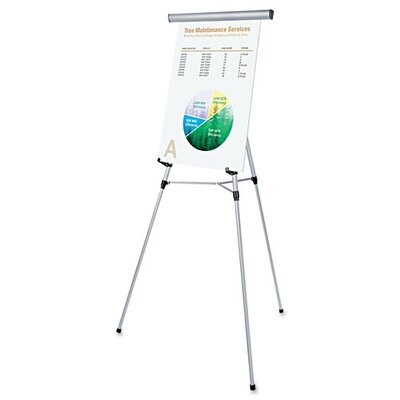 "Universal® 3-Leg Telescoping Easel with Pad Retainer, Adjusts 34"" To 64"""