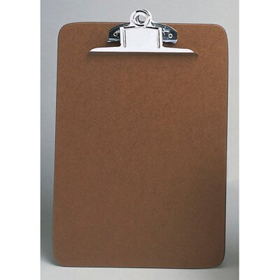 "Universal® 14"" Hardboard Clipboard in Brown"
