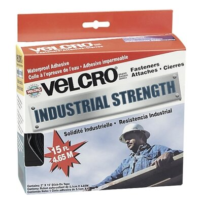 """VELCRO USA Inc Industrial Strength Hook & Loop Fastener Tape Roll, 2"""" x 4 ft. Roll, White"""