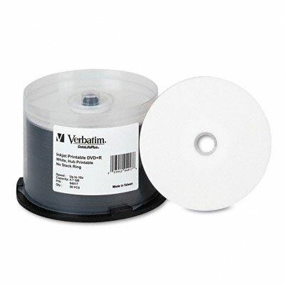 Verbatim Corporation Inkjet Printable Spindle Dvd+R Discs, 4.7Gb, 16X, 50/Pack