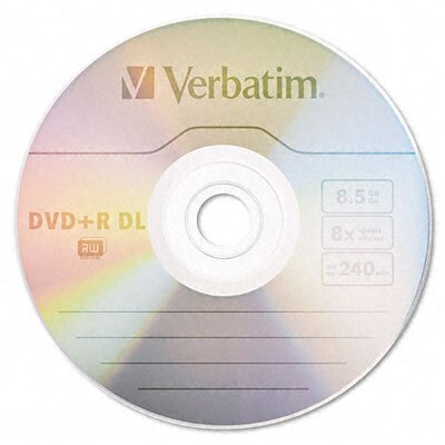 Verbatim Corporation Dual-Layer Dvd+R Discs, 8.5Gb, 8X, 5/Pack