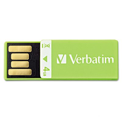 Verbatim Corporation Clip-It USB Flash Drive, 4G