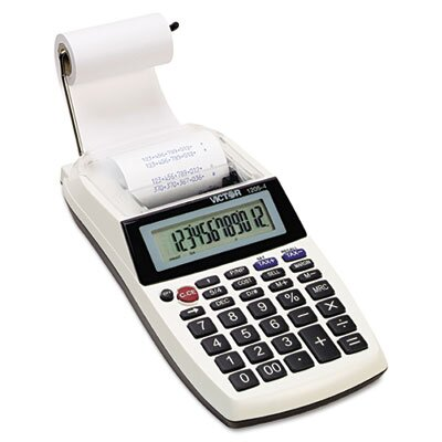 Victor Technology Palm/Desktop Printing Calculator, 12-Digit Lcd