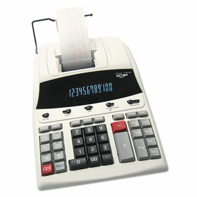 Victor Technology 1230-4 Desktop Calculator, 12-Digit Fluorescent, Two-Color Printing