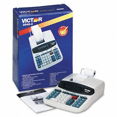 Victor Technology Printing Calculator, 12-Digit Fluorescent